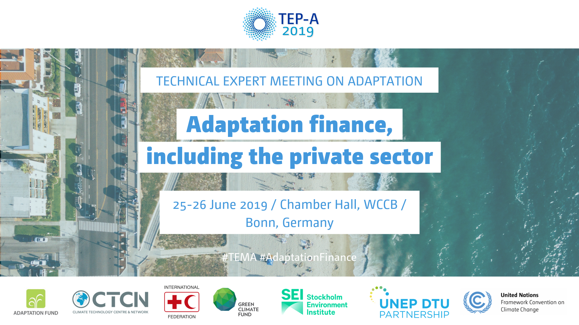 2019 Technical Expert Meeting on Adaptation Overview slide