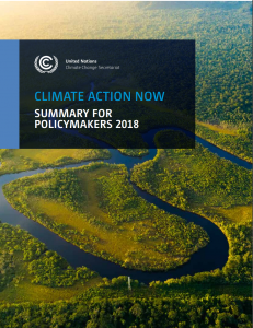 2018 Summary for Policy Makers Cover Image